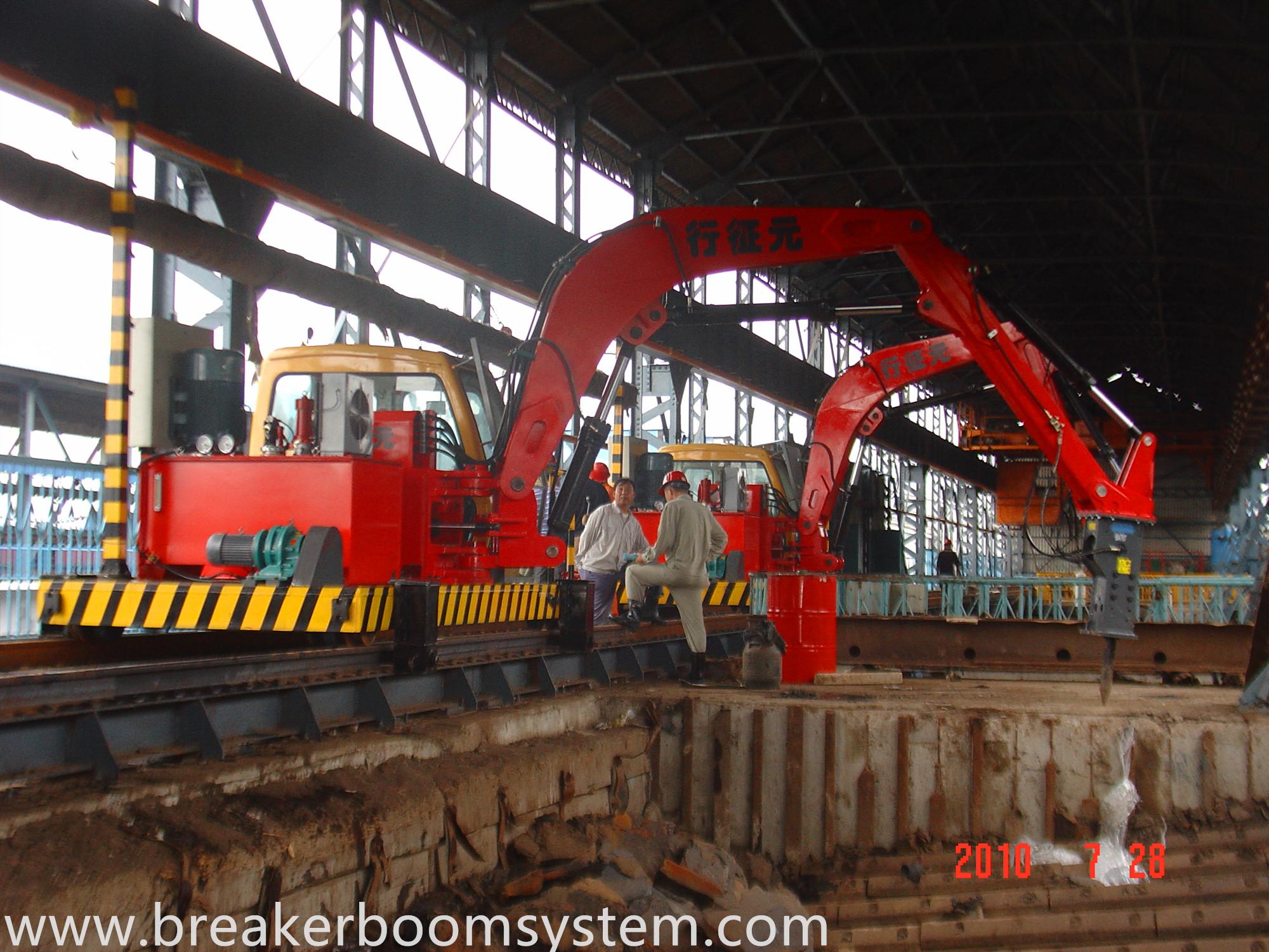 Fixed Type Rock Breaker Booms System