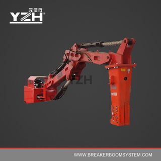 M550 170° Slewing Type Pedestal Fixed Boom Breaker System For Grizzly