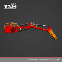 360 Degrees Slewing Pedestal Hydraulic Breaker Boom System