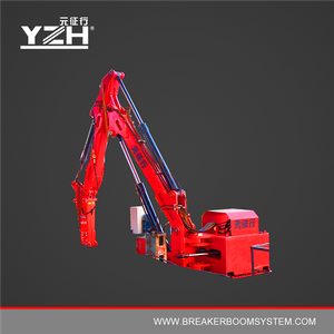Stationary Hydraulic Rock Breaker Booms System