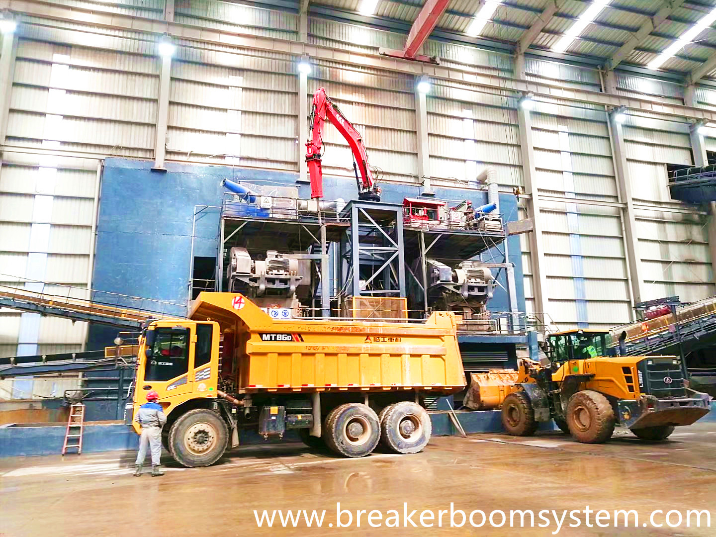 YZH Pedestal Boom System Was Successfully Delivered To The Stone Material Factory!