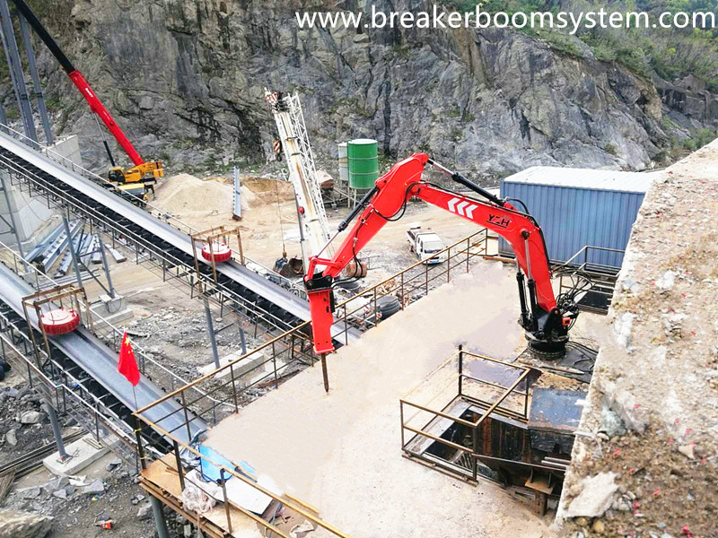 YZH Pedestal Rock Breaker Boom System Maximum Improved Productivity Of China Aggregate Crushing Plant!
