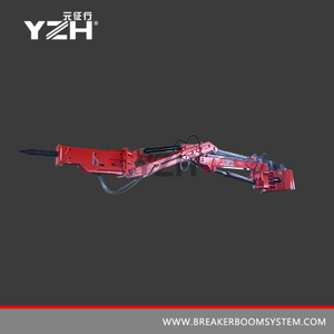 YZH-XL1400 170° Rotation Pedestal Rock Breaker Booms System