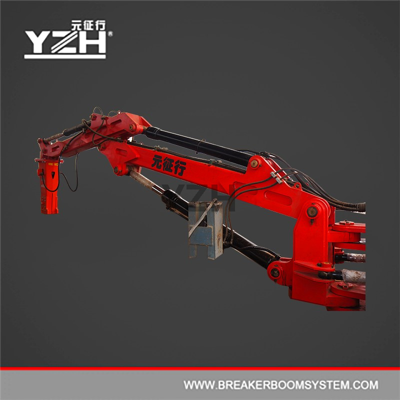 Stationary Pedestal Type Hydraulic Rock Breaking Booms System