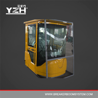 Operator Control Cabin With Mesh Protection