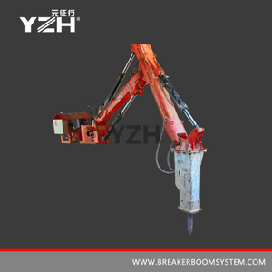 Stationary Type Robotic Rock Breaker Boom System