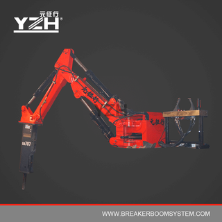 Hydraulic Rock Breaker Boom System For Jaw Crusher Grizzly