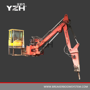 Stationary Type Pedestal Rockbreaker Boom Systems