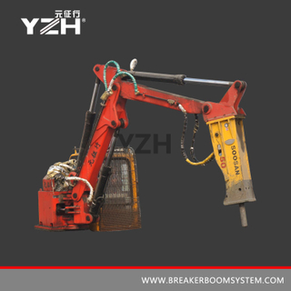 YZH-XM300 Static Grizzly Rockbreaker Boom System For Surface Mine