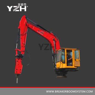 Stationary Boom Breakers System For Gyratory Crusher