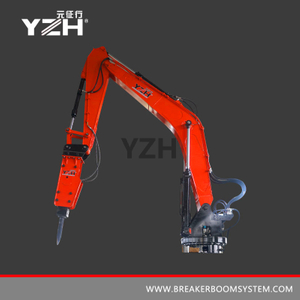 YZH-L850R 360° Rotation Fixed Pedestal Rock Breaker Booms System