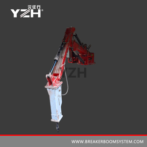 YZH-XM850 170° Rotation Hydraulic Pedestal Boom Breaker Systems For Gyratory Crusher